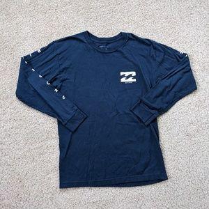Billabong Long Sleeve T-Shirt Men's Medium Blue